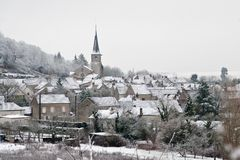Village after snow Royalty Free Stock Images