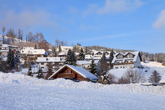 Village in the snow Royalty Free Stock Photos
