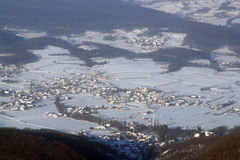 Village in snow Royalty Free Stock Image