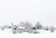Village in the snow Royalty Free Stock Images