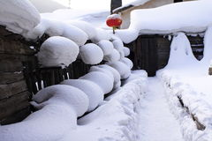 The village of snow. China north Heilongjiang winter village Stock Images