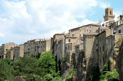 Sorano in Tuscany, Italy. Village of Sorano in Tuscany, Italy Royalty Free Stock Photography