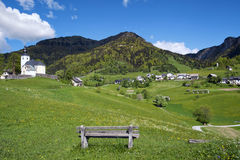 Village of Sorica, Slovenia. Village of Sorica is one of most beautiful mountain villages in Slovenia stock photography
