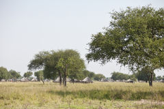 Village in South Sudan Royalty Free Stock Photo
