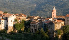 Village in southern Italy Stock Images