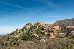 Village of Spelonato in Balagne region of Corsica Stock Image