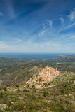 Village of Spelonato in Balagne region of Corsica Stock Photos