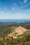 Village of Spelonato in Balagne region of Corsica Stock Photography
