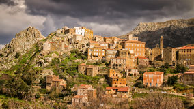 Village of Speloncato in the Balagne region of Corsica Royalty Free Stock Images