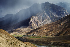 Village in Spiti Valley Stock Images