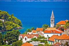 Village of Splitska architecture and seafront Royalty Free Stock Image