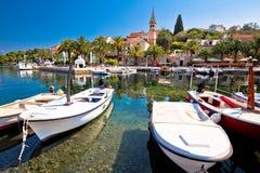 Village of Splitska on Brac island seafront view Stock Photo