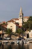 Village Splitska sur l'île de Brac Images stock