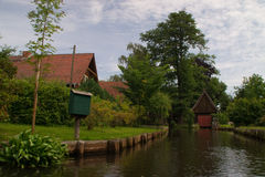 Village in Spreewald Stock Images