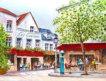 Village Square Royalty Free Stock Image
