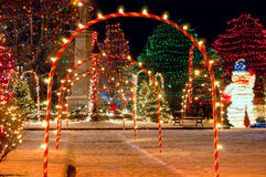 Village square Christmas Royalty Free Stock Image