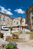Village square in France Stock Photography