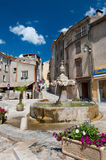 Village square in France Royalty Free Stock Image