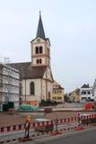 Village square Sandweier. Village sqaure sandweier with church st. katharina under construction Royalty Free Stock Images
