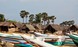 Village on Sri Lanka Stock Photography