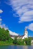 Village St. Wolfgang on the lake, Austria Stock Image