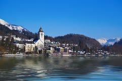 Village St Wolfgang on lake Wolfgangsee - Austria Stock Images