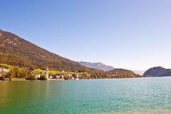 Village St. Wolfgang on Wolfgangsee lake Royalty Free Stock Image