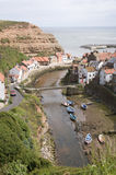 Village of Staithes. In Yorkshire, England Royalty Free Stock Image