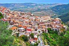 The village of Staiti in the Province of Reggio Calabria, Italy.  stock image