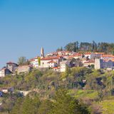 Village of Stanjel, Slovenia, Europe. stock image