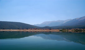 Village of Stenje, Great Lake Prespa, Macedonia Royalty Free Stock Images