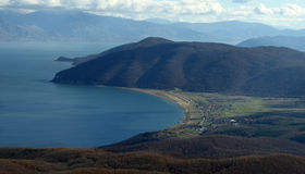 Village of Stenje, Great Lake Prespa, Macedonia Royalty Free Stock Photos