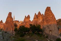 village of stone in Cappadocia Turkey Royalty Free Stock Photography