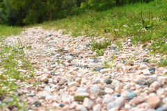 Village stone textured road Royalty Free Stock Image