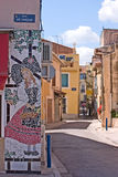 Village street. Scenic inner village street in Martiques France Stock Photography