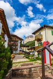 Village street of the Alps Italy Royalty Free Stock Image