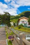 Village street of the Alps Italy Royalty Free Stock Photo