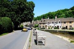Village street, Castle Combe. Royalty Free Stock Photo