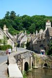 Village street, Castle Combe. Royalty Free Stock Photos
