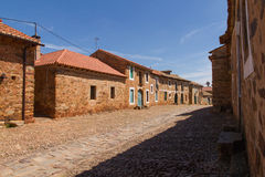 Village Street Castrillo de Los Polvazares Royalty Free Stock Images