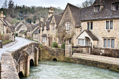 Village street in Cotswolds Royalty Free Stock Photography