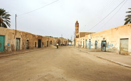 Village street in desert Royalty Free Stock Photo