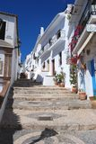 Village street, Frigiliana, Spain. Stock Photography