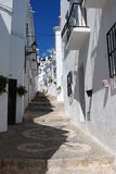 Village street, Frigiliana, Spain. Royalty Free Stock Images