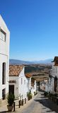 Village street, Jimena de la Frontera, Spain. Royalty Free Stock Images