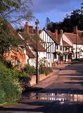Village street, Kersey, Suffolk. Royalty Free Stock Photo