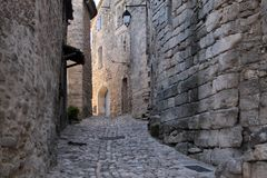 Village street in Lacoste Royalty Free Stock Photo