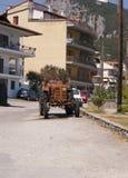 Village street. The street in Litohoro resourt, Greece Stock Photos