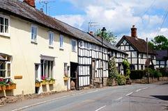 Village street, Pembridge. Stock Photo