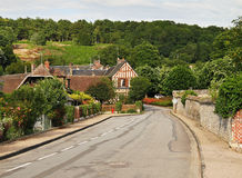 Village Street in Rural France Royalty Free Stock Photography